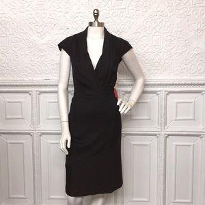 Anne Klein NWT Grey Tweed Cap Sleeve Dress